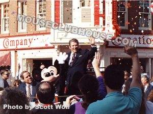 Scott took this photo of President Ronald Reagan in Disneyland in 1990