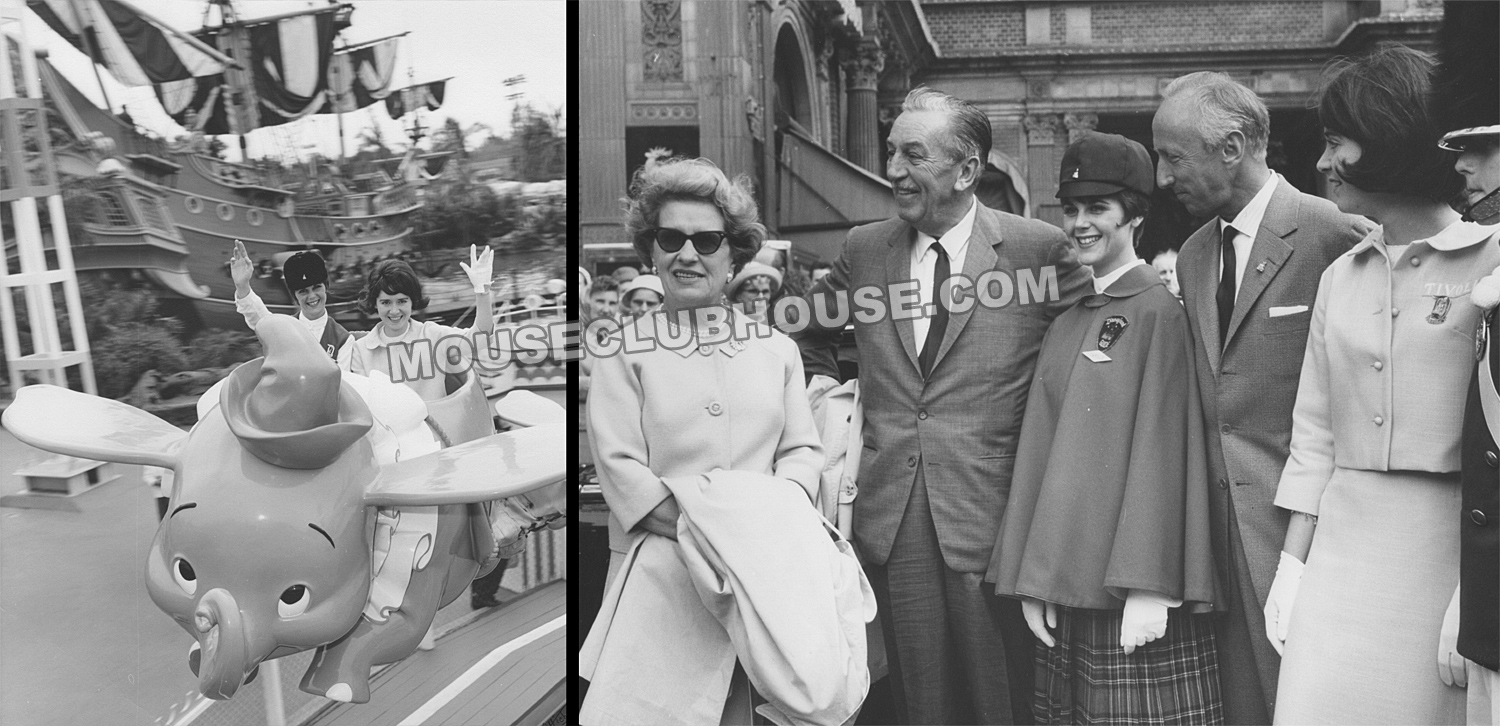 Carole Tully with Hanne Plath, Walt and Lillian Disney