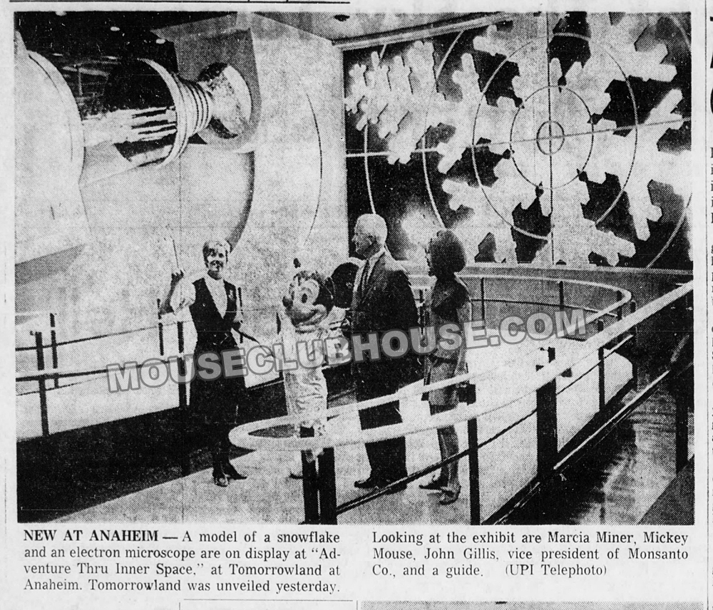 "1967 Disneyland Ambassador Marcia Miner gives a tour in ""Adventure Thru Inner Space"""