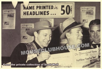 Wally Boag, Pat O'Brien and the Disneyland News