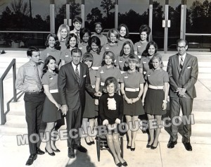 Valerie Watson with the first tour guides of Walt Disney World
