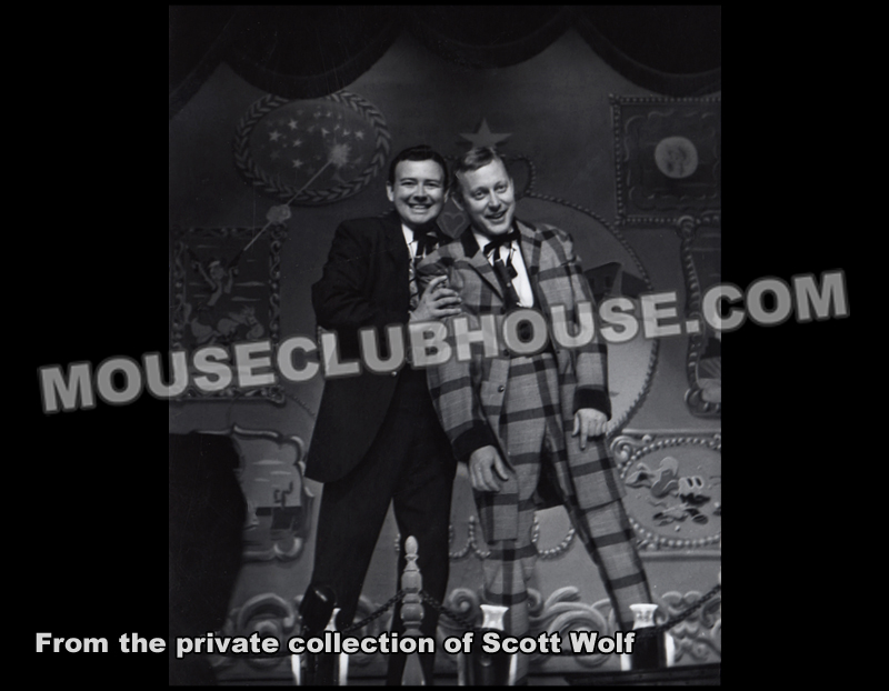 Fulton Burley and Wally Boag in the Golden Horseshoe Revue