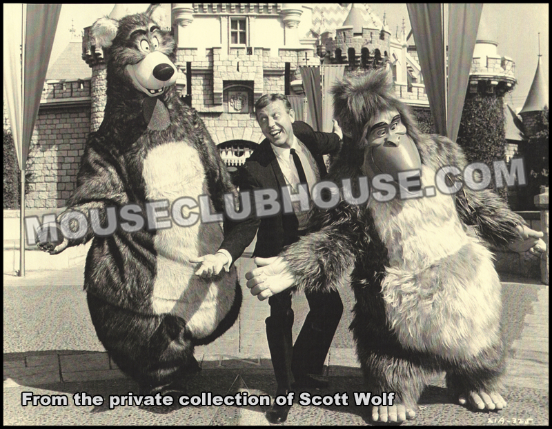 Publicity photo for tour with Wally Boag to promote the Walt Disney film, The Jungle Book