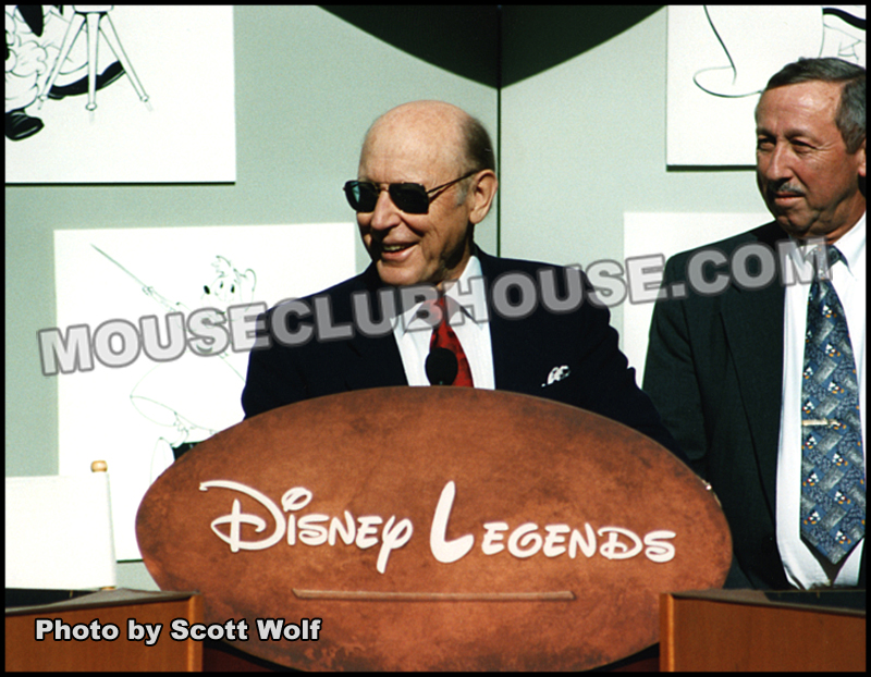 Wally receiving a Disney Legends Award at the Walt Disney Studios