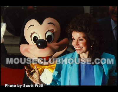 Not even the rain dampened the excitement when Annette Funicello became a Disney Legend