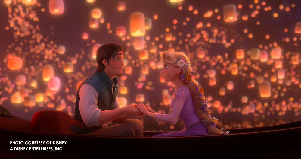 """I See the Light"" scene from Disney's Tangled"