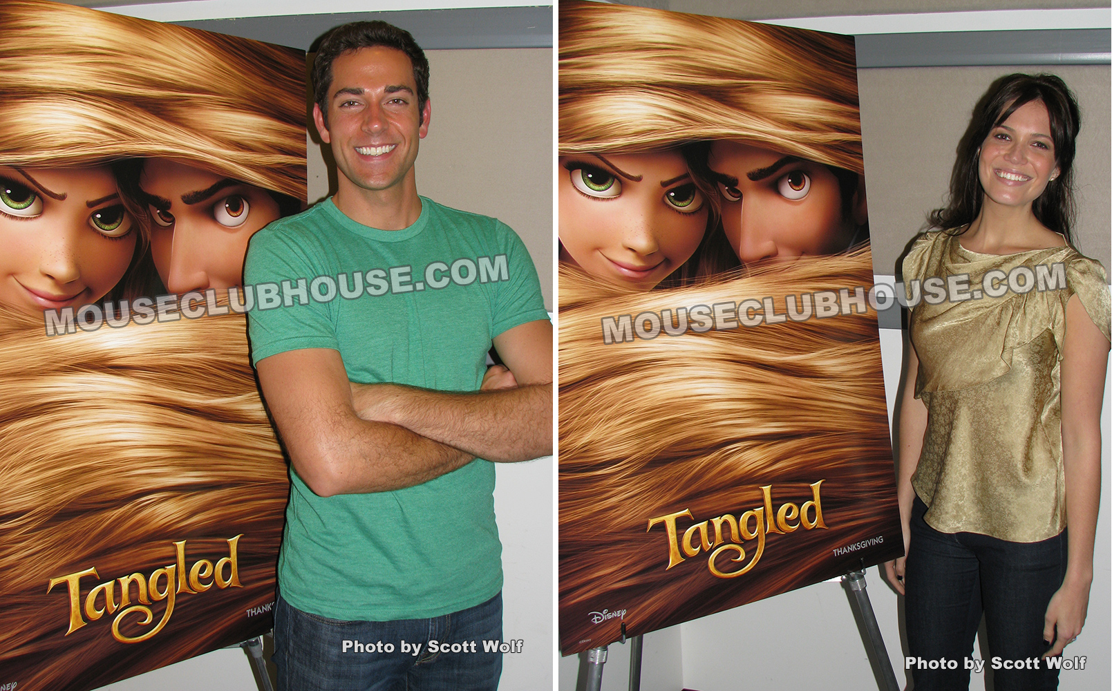 Interview with Zachary Levi, voice of Flynn Rider and Mandy Moore, voice of Rapunzel in Disney's Tangled