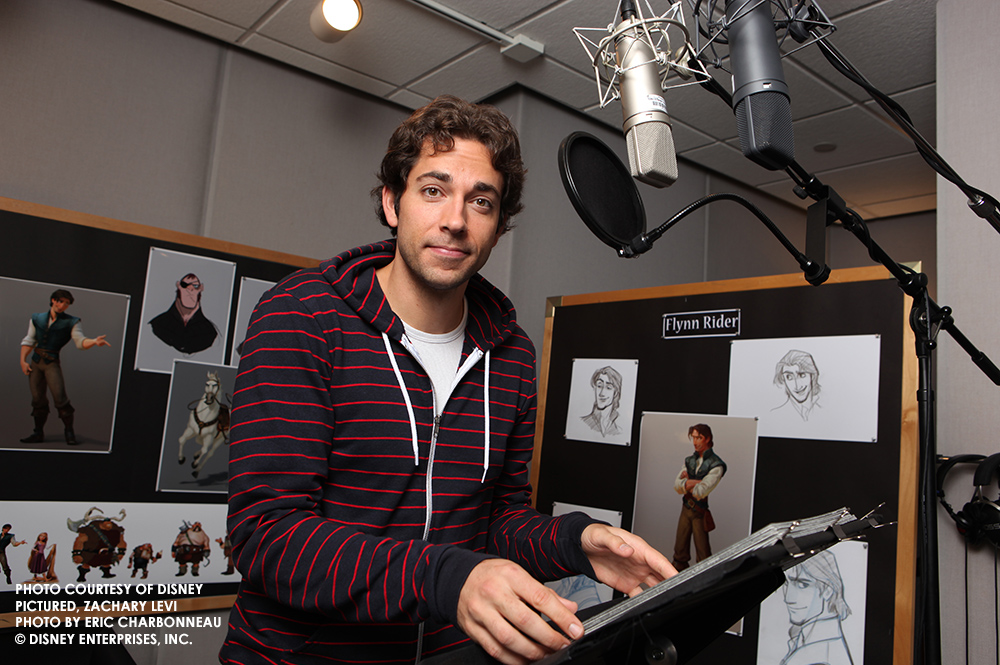Zachary Levi recording for Disney's Tangled