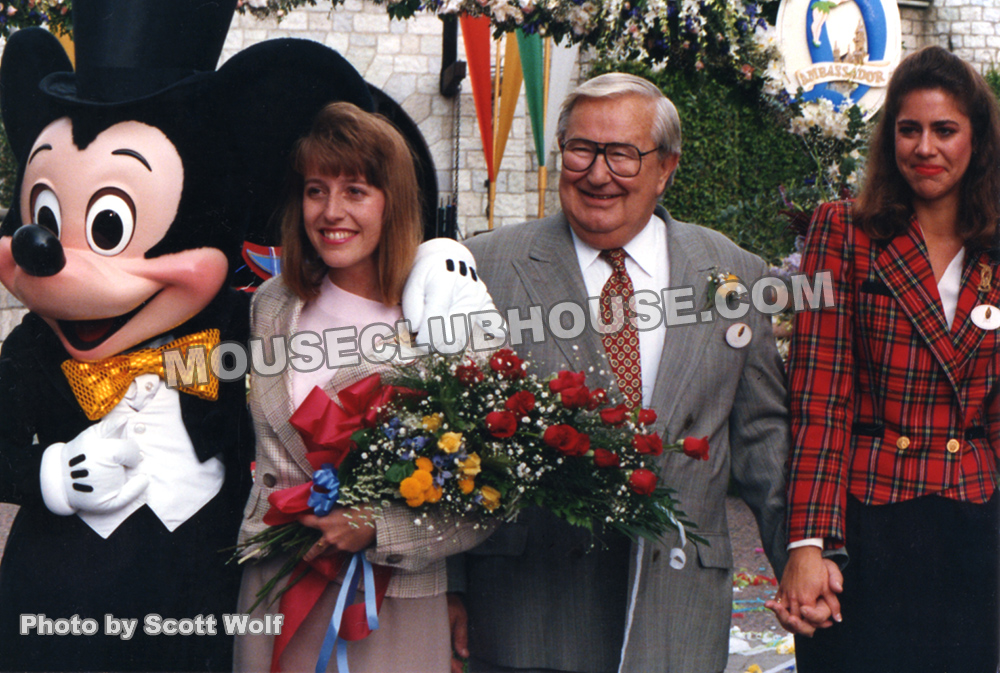 Disneyland Ambassador Ceremony, 1991, Suzanne Palmiter, Jack Lindquist, Jill Ornelas