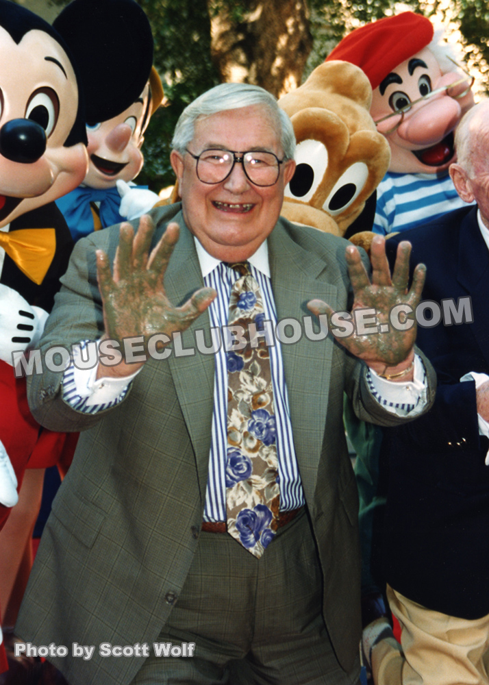 1994 Disney Legends Ceremony, after putting his handprints in cement