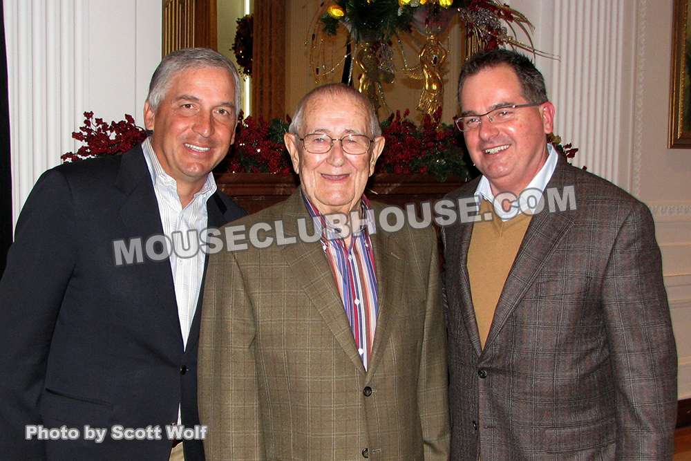 Former Disneyland presidents Matt Ouimet, Jack Lindquist and George Kalogridis