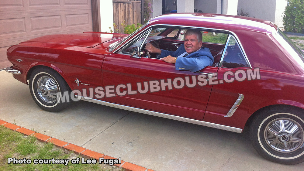 Lee Fugal in the same 1965 Mustang he drove each day to Disneyland