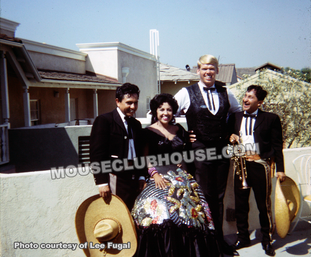 Lee Fugal with the Gonzalez Trio at Disneyland (Roberto, Carmelita, Lee and Arturo)
