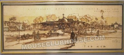 "artwork reads ""Restaurant between Main Street & True Life Adventure Land"""