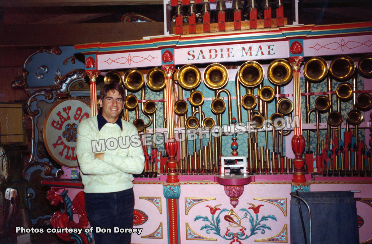 Don Dorsey and Sadie Mae, the band organ heard in America on Parade (1976)