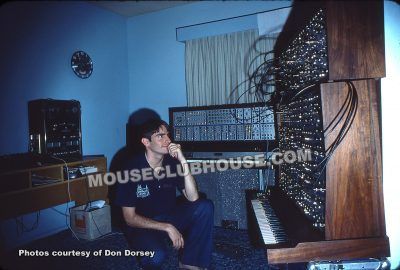 Don Dorsey with his E-MU Synth (1977)