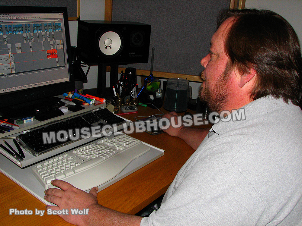 Randy Thornton at work at Walt Disney Records