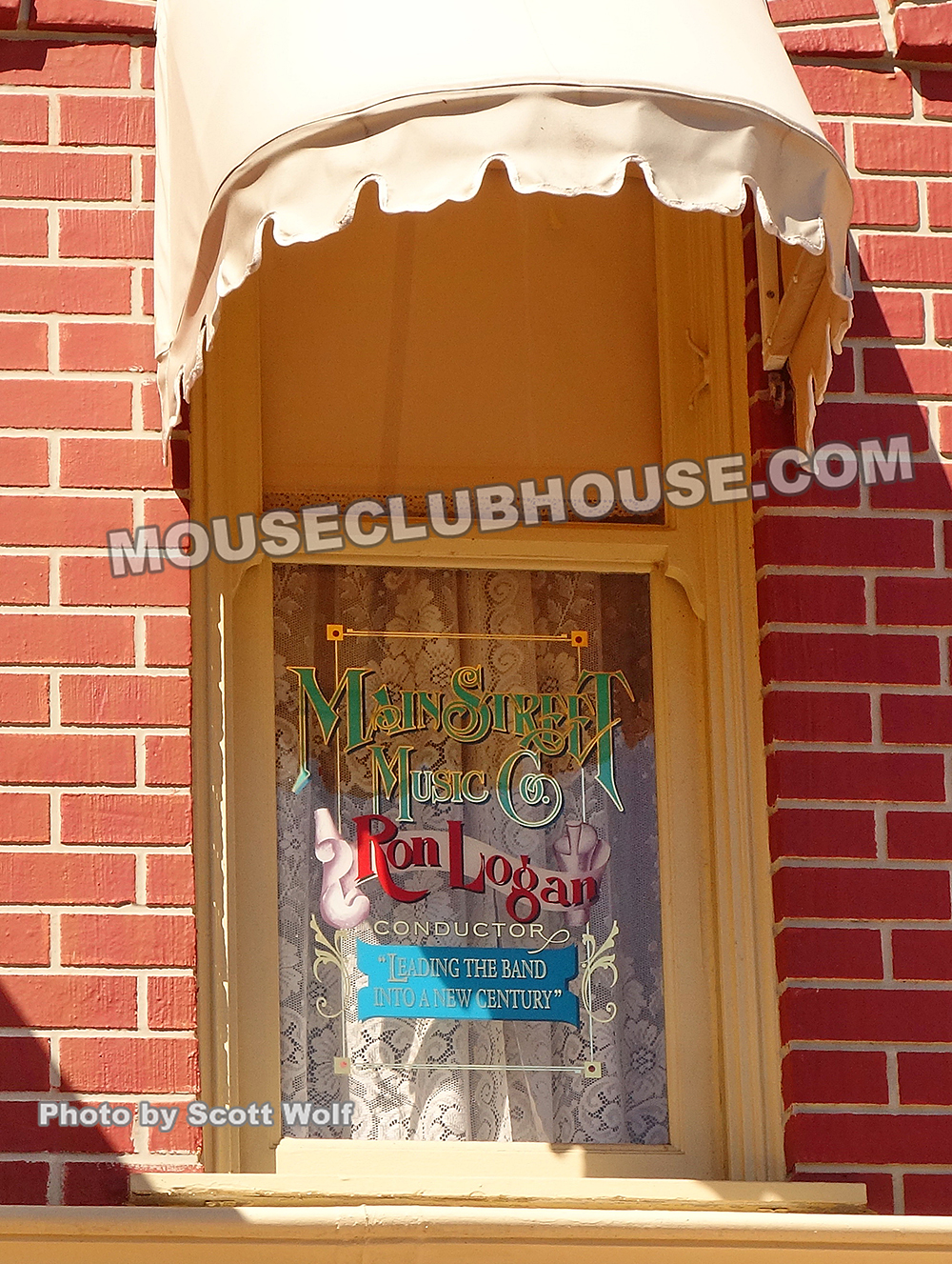 Ron Logan's windows on Main Street in the Magic Kingdom in Walt Disney World
