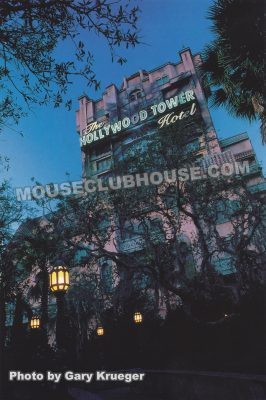 The Twilight Zone Tower of Terror, Walt Disney World postcard photo by Gary Krueger