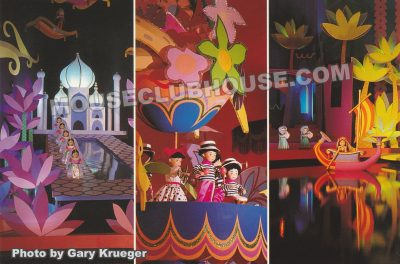 it's a small world, Walt Disney World postcard photo by Gary Krueger
