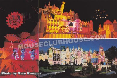 it's a small world, Disneyland postcard photo by Gary Krueger