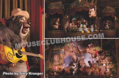 Country Bear Jamboree, Walt Disney World postcard photo by Gary Krueger