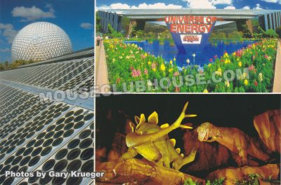 The Universe of Energy in Epcot, Walt Disney World postcard photo by Gary Krueger