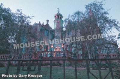 The Haunted Mansion, Walt Disney World postcard photo by Gary Krueger