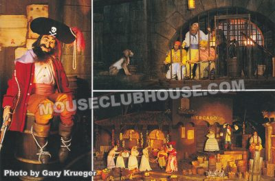 Pirates of the Caribbean, Walt Disney World postcard photo by Gary Krueger