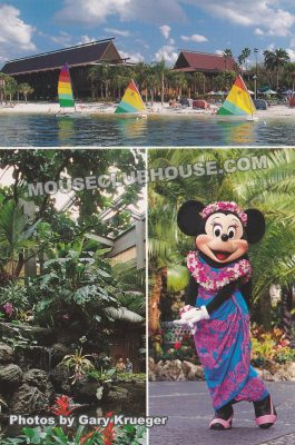 Polynesia Village Resort, Walt Disney World postcard photo by Gary Krueger