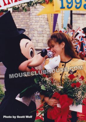 Kathleen after being named Disneyland Ambassador 1993