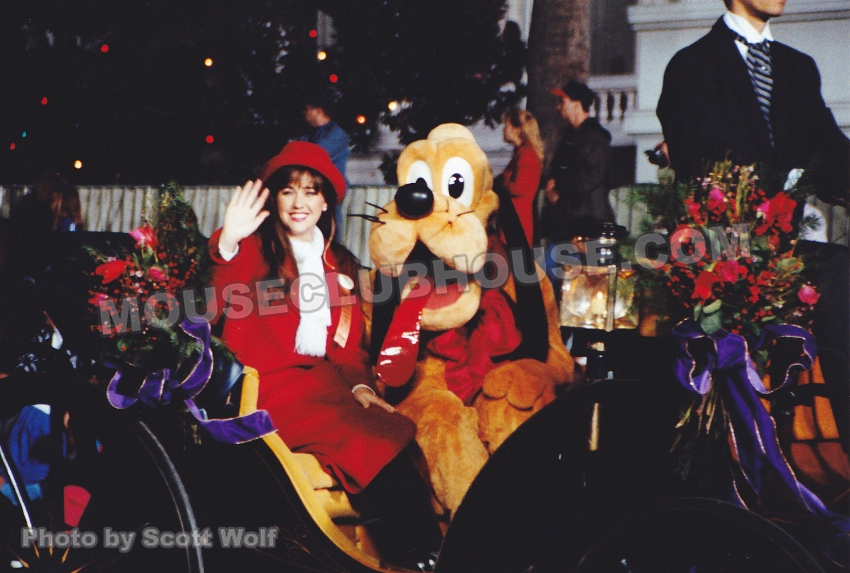 Kathleen and Pluto in the Hollywood Christmas Parade