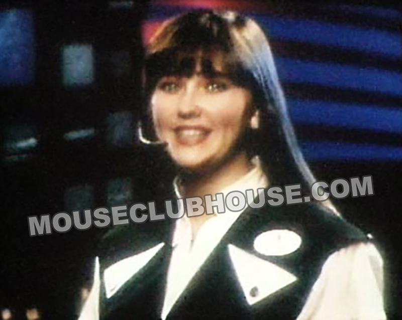 Kathleen in the Space Mountain attraction safety video