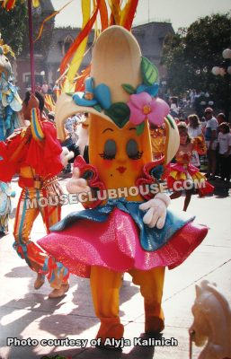 One of Alyja's costumes for the Party Gras parade in Disneyland