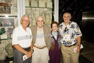 Four Disney Legends, all of whom have been interviewed for Mouse Clubhouse. Bob Gurr, Blaine Gibson, Harriet Burns, Orlando Ferrante