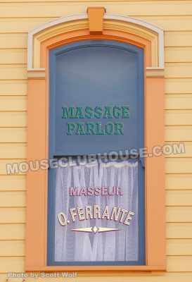 Orlando Ferrante's window on Main Street in the Magic Kingdom in Walt Disney World