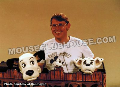 "As puppeteer, Don Payne takes a break during a television appearance to promote Disney's ""101 Dalmatians"""