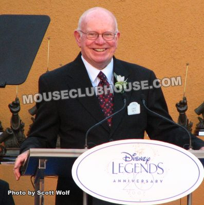 Dave Smith, receiving Disney Legends Award