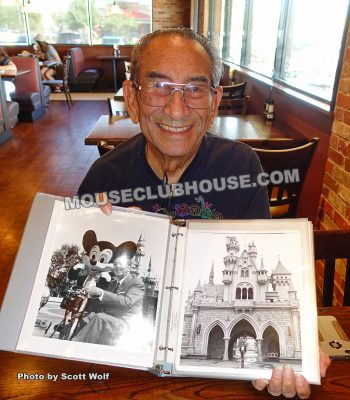 Renie Bardeau, and two of his well-known photos of Walt Disney