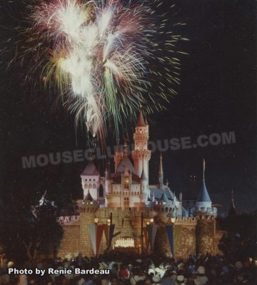 Sleeping Beauty Castle with fireworks