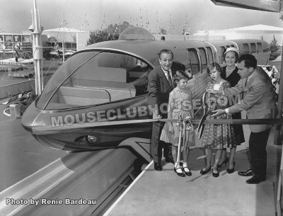 Renie's first photoshoot, the opening of the Monorail, 1959
